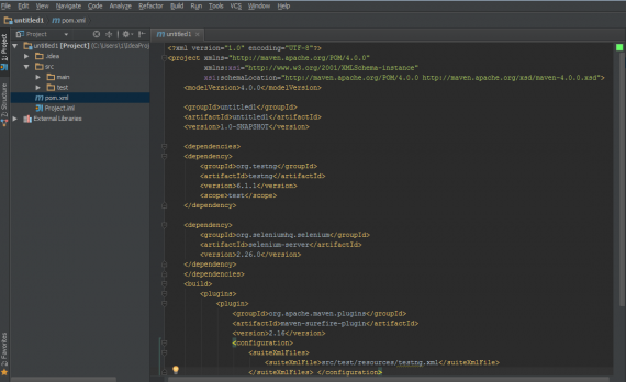 IntelliJ IDEA - pom.xml